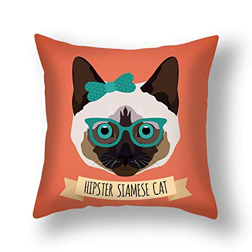 ouyalis Cushion Covers Simple home cartoon animal series hug pillowcase sofa cushion home decoration hug pillowcase-450mm*450mm_X04
