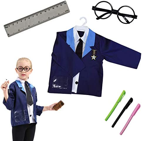 DRESS 2 PLAY Teacher School Time Classroom Play Set Pretend Costume Dress Up Set with Accessories product image