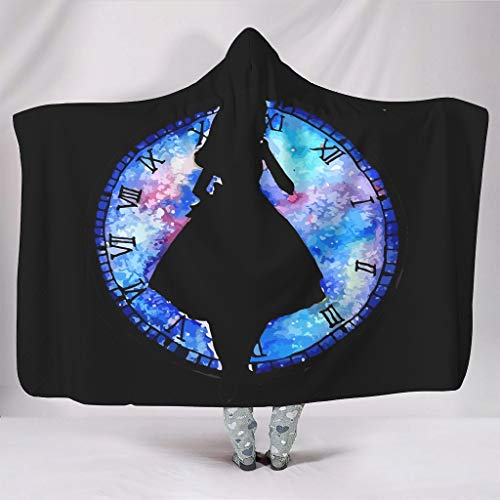 XHJQ88 vleermuis deken klok meisje thema afdrukken winter wrap gewaad - paars groot past bank gebruik