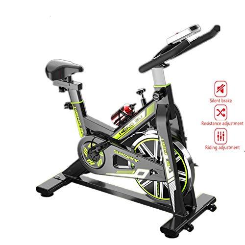 Bicicleta estática profesional para interiores Fitness, sistema de frenado de emergencia con pedal anticaída de seguridad + botella de agua de aleación de aluminio adecuada para hombres y mujeres, B