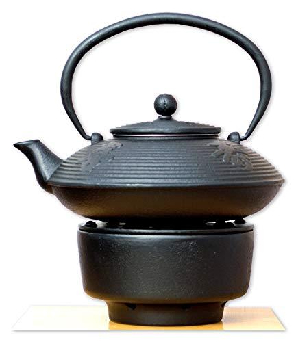 Gifts Of The Orient GOTO® - Té Caliente Y Hierro Fundido En Negro Caligrafía Estilo Japonés Arrabio Tetera Hervidor 0.8L
