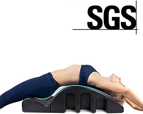 YF-SURINA Equipo deportivo Cama de masaje Soporte de camilla para espalda, Corrector de columna lumbar, Yoga Pilates Arch Barrel Cama de masaje, Equipo de fitness para barril de yoga, Postura curva S