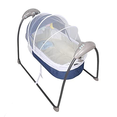 OUKANING Baby Swing Electric Baby Cuna Hamaca para bebés de 0 a 12 Meses con función de mecedor, música, Temporizador