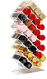 Lipsticker Organizer, Lumcrissy Acrylic Lip Gloss Organizer 28 Lip Sticks Makeup Holder, Acrylic Lipstick Holder Cosmetic ...