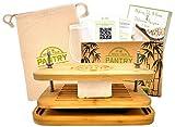 Tofu Press By Grow Your Pantry - Diseño de madera de bambú con un sistema de tornillo de acero inoxidable - Bolsa de regalo para almacenamiento y guía de libros electrónicos.