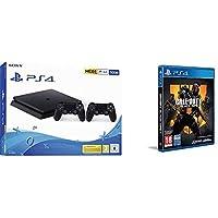 Playstation 4 (PS4) - Consola 500 Gb + 2 Mandos Dual Shock 4 (Edición Exclusiva Amazon) - nuevo chasis F + Call of Duty: Black Ops IIII + Tarjeta de visita exclusiva (Edición Exclusiva Amazon)