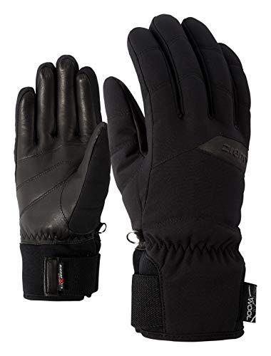 Ziener Damen KOMI AS(R) AW lady glove Ski-handschuhe/Wintersport   Wasserdicht, Atmungsaktiv, black, 7 (S)