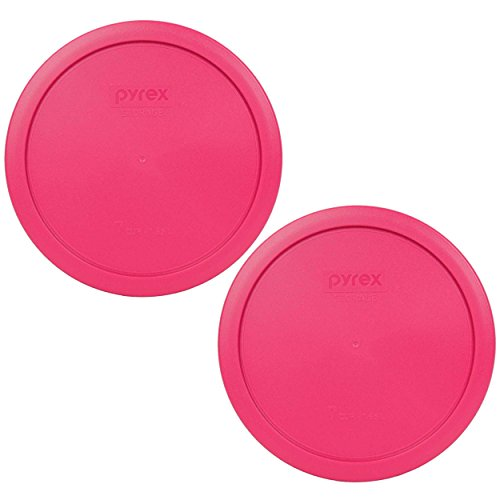 Pyrex 7402-PC 7 Cup Fuchsia Pink Round Plastic Lid (4, Fuchsia Pink)