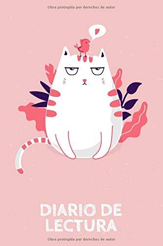 Diario de Lectura: Book Journal a completar | para todos los amantes de los gusanos de libros y de la literatura | Motivo: Gato rosado