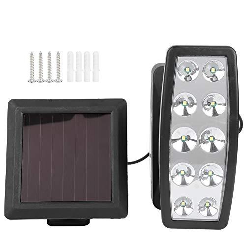 DPYF Lámparas para Exteriores, 10 Chips LED Ajustables, focos de luz de Pared de inducción con energía Solar para Pasillo de jardín al Aire Libre