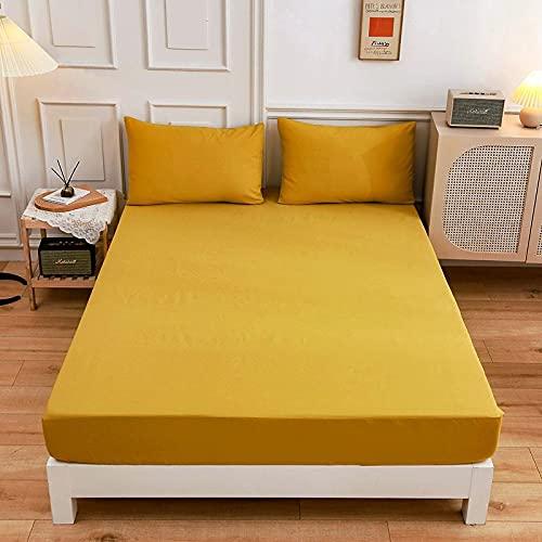HAIBA Fundas de almohada transpirables, sin arrugas, gruesas y suaves, protege del polvo y la caspa - Ideal para el hogar y el hotel, 48 x 74 cm (2 unidades), color amarillo