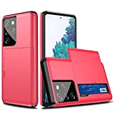 LRJBFC Caja de tragamonedas a Prueba de Golpes para Samsung Galaxy S20 Fe S21 S30 Nota 20 Ultra 10 9 8 S10 5G S9 S8 Plus S7 Edge S20 + S21 + Cubierta de Caja (Color : Red, Material : For S10 5G)