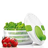 KitchenNinja Centrifuga per Insalata e Verdure di Grande Capacità 4 litri