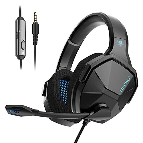 Jeecoo Nubwo N13 Stereo-Gaming-Headset, PS4, 3,5 mm, Over-Ear-Gaming-Kopfhörer mit Mikrofon, leichter Rahmen, kompatibel mit PC, Laptop, PS5, Xbox One Controller
