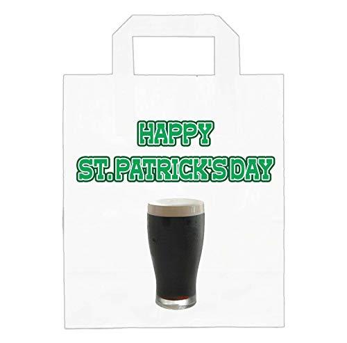 Bolsas de papel para el da de San Patricio, fiestas, pub, alimentos, golosinas, accesorios, diseo irlands de pinta de Stout (paquete de 6)