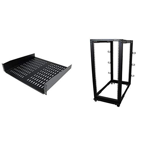 StarTech.com 2U Server Rack Shelf & Open Frame Server Rack
