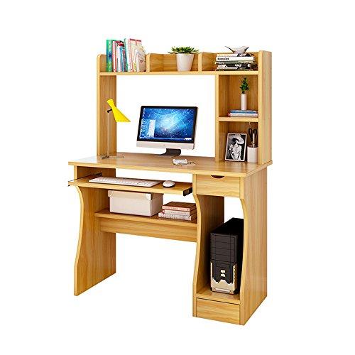 Table Haizhen Bureau d'ordinateur simple et moderne avec bibliothèque et bureau (80 x 45 x 131,2 cm)