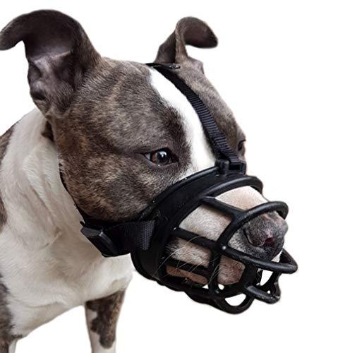 Pettycart Bozal para Perro, bozal de Cesta Suave para Perros medianos y Grandes, lo Mejor para Evitar mordiscos, Masticar y ladrar