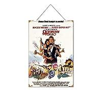 ジェームズボンド007フィルムシリーズセクシービューティーストッキング(21木製のリストプラーク木の看板ぶら下げ木製絵画パーソナライズされた広告ヴィンテージウォールサイン装飾ポスターアートサイン