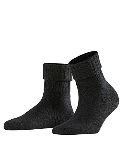 FALKE Damen Socken Rib, Schurwollmischung, 1 Paar, Schwarz (Black 3009), Größe: 35-38