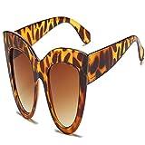 moda occhiali da sole nuove donne occhiali da sole cat eye occhiali da sole neri del progettista di marca perocchialifemminiliuv400 leoparvtea spedizione gratuita