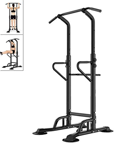 YLJYJ Upright Exercise Bikes Fitness Home Horizontal Bar Sports Equ Indoor Pull-up Equ Parallel Bar Height Stable Equ spin bikection Home Spinning bikebic (Color : Black, Size : 90x97x230cm)