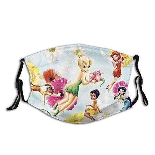 Disney Fairy Neck Polaina,Unisex Bandana,Casco resistente al viento,Bufanda de la cara de la motocicleta,Diadema para hombres y mujeres