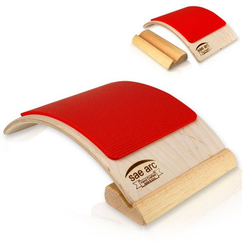 Spine Stretching Lumbar Support - Two in One Back & Lumbar Stretcher (Red)