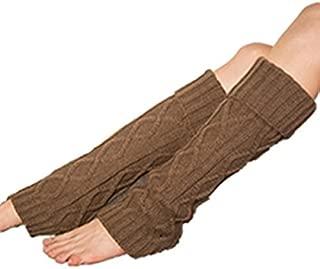 Clearance! E-Papaya 2016 Women's Flip-Over Long Leg Warmer Knit Boot Socks Cuff (Khaki)