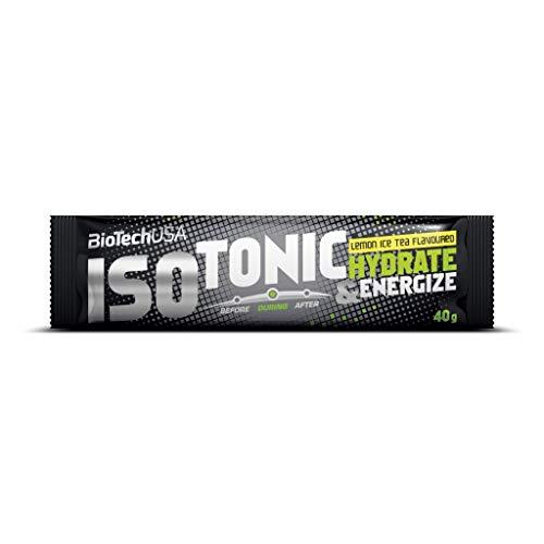 2 x Biotech USA Isotonic isotonisches Getränkepulver, 10x40g Beutel , Zitronen-Eistee (2er Pack)