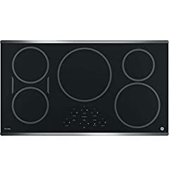 GE PHP9036SJSS 36 Inch Cooktop with 5 Induction, 3,700-Watt Element, Pan Size Sensors, SyncBurners, Red LED Display, Kitchen Timer, ADA Compliant Fits Guarantee by GE