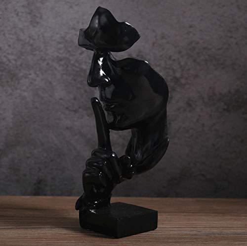 KJFSDH Metal Escultura Decoración del Hogar Estatua De Pensador Retro Estatua De Personaje Abstracto No Escucha Hablar Viendo Escultura En Miniatura Artesanía De Escritorio-A