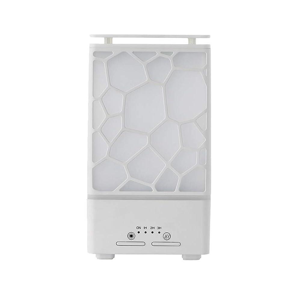 徹底的にきゅうりでyanQxIzbiu Essential Oil Diffuser Geometric Plaid Aroma Essential Oil Diffuser Home Office LED Lights Humidifier - White for Bedroom Living Room Study Yoga Spa 141[並行輸入]