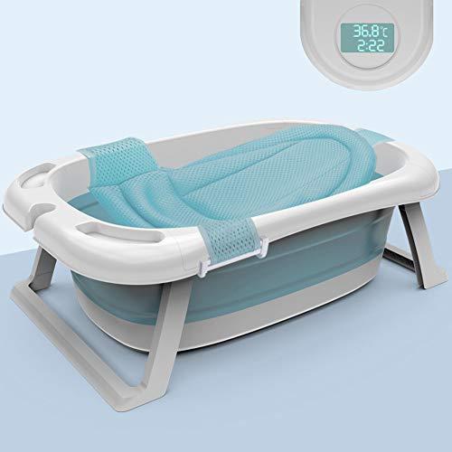 Baby Badkuip Grote capaciteit, Opvouwbare Douche Zwembad, Zwembad voor kinderen, Draagbare Kinderbad met Kussen en Temperatuur Display