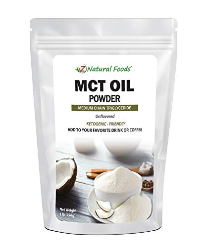 MCT Oil Powder - Unflavored Keto Coffee Creamer for Instant Energy & Endurance - Perfect Fat Supplement for Ketogenic Diet - Mix in Tea, Smoothies, Shakes & Recipes - Non GMO & Gluten Free - 1 lb 1