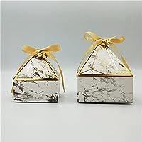 ギフト用の箱 新しい大理石のギフトボックスパッキング宝石タワーの結婚式の用品お菓子箱ありがとうございますPorid Giftsベビーシャワーギフトバッグ ギフト用の箱 (Farbe : Marble Bells, Geschenk Tasche Größe : 20 PCS)