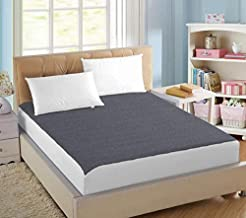 AVI 100% Waterproof Soft Terry Cotton Fitted Mattress Protector/Bed Cover for Twin Size Bed -Dark Grey (48 X 72 inches)