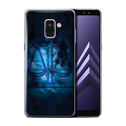 Stuff4®®®®®®®®®®®®®®®®®®®®®®®®®®®®®® Phone Case/Cover/Skin/SGA-CC/Zodiac Star Sign Collection Samsung Galaxy A8 Plus 2018 Weegschaal/libra.