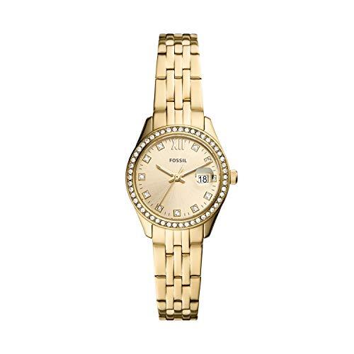 Fossil - Reloj Tradicional de Cuarzo de Acero Inoxidable para Mujer ES5037