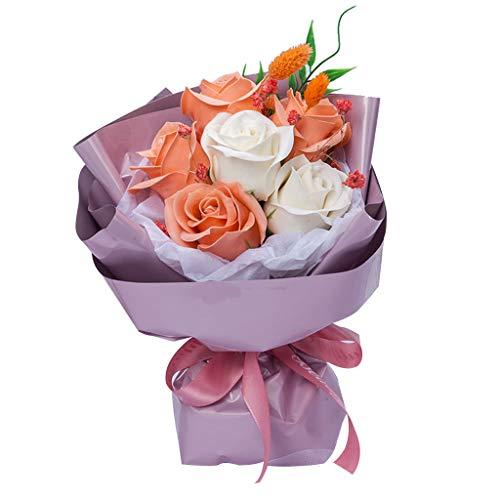 Meilily Brautstrauss Seife Rose Blume Blumenstrauß Rosenbox Baderosen Seifenblume, kunstblumen Rose Soap Blumen Geschenk für Geburtstag/Jahrestag/Hochzeit/Valentinstag