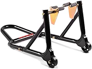 ConStands   Montageständer Kompatibel für Honda CBR 125/250/400/600/900/1000/1100/Sport/R/RR/XX/F/RR Fireblade,CG 125,City Fly 125 Vorderrad mit Aufnahmen Front Schwarz