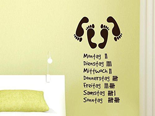 GRAZDesign Wandtattoo erotisch und witzig, Schlafzimmer Tattoo Sex Strichliste, Wandaufkleber Wanddeko lustiges Motiv / 54x30cm / 070 schwarz