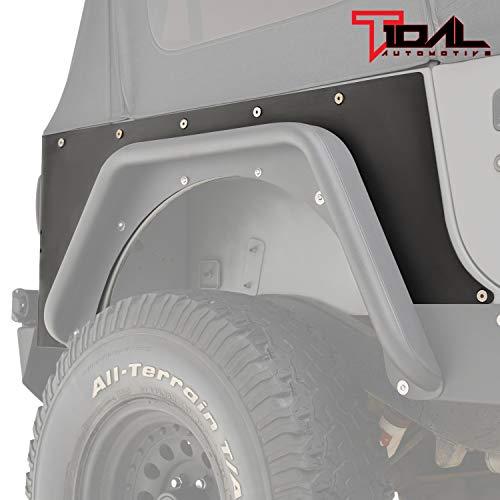 Tidal Armor Rear Corner Guard Black Textured Fit for 87-95 Wrangler YJ