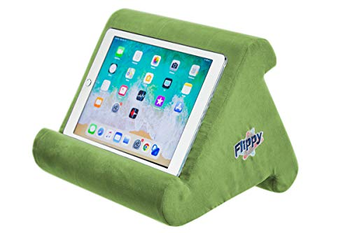 Flippy Multi-Angle Soft Pillow Lap Stand for iPads, Tablets, eReaders, Smartphones, Books, Magazines (Kiwi Green)
