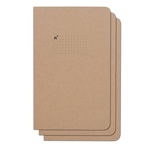 Northbooks Dotted Bullet Notebook Journal   5x8 Dot Grid Journals   Soft Cover Eco-Friendly Premium Recycled Cream Color Paper 96-Pages   Made in USA   3-Pack