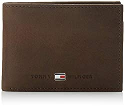 Tommy Hilfiger Herren JOHNSON MINI CC FLAP AND COIN POCKET Geldbörsen, Braun (Brown 041), 11x7x3 cm