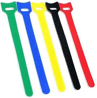 50 piezas Correas de cable Reutilizables Cierres de cable Lonas de microfibra Tiras de cables Ajustable Multiuso Sujetador de la cuerda del cable del organizador de cables (6 pulgadas, multicolor)