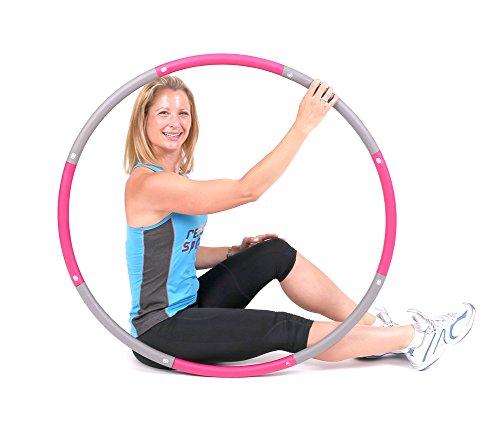 ResultSport Hula Hoop Reifen Erwachsene 1,2kg Gewicht 100cm breit, Weighted Fitnessreifen, Fitnessübungen Training