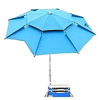 1.8m屋外ビーチキャンプ釣り傘折りたたみ太陽の保護アンチ紫外線サンシェード傘防水オーニング雨傘 (Color : O 1.8m one direction)