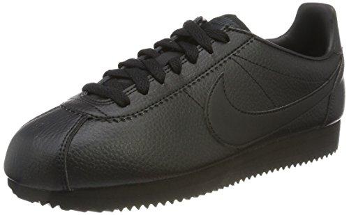 Nike Classic Cortez Leather, Scarpe da Ginnastica Basse Uomo, Nero (Black/Black/Anthracite 002), 49.5 EU